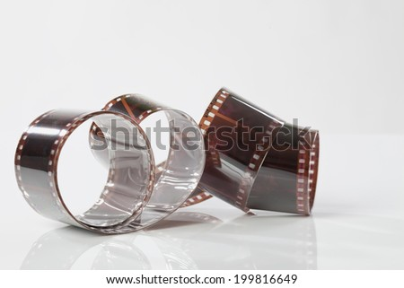 Strips of colored negative film - stock photo