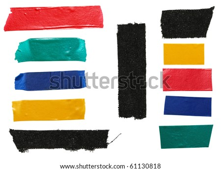 Strips of colourful insulating tape - stock photo