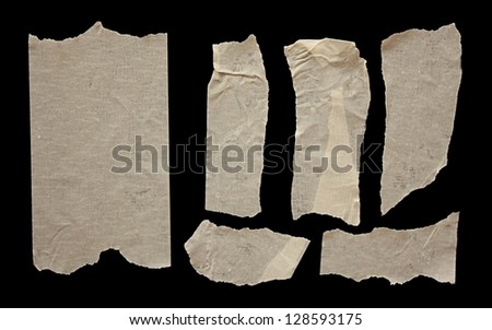 Strips of masking tape - stock photo