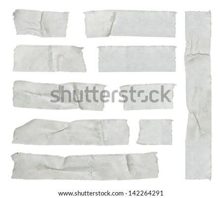 Strips of masking tape isolated on white - stock photo