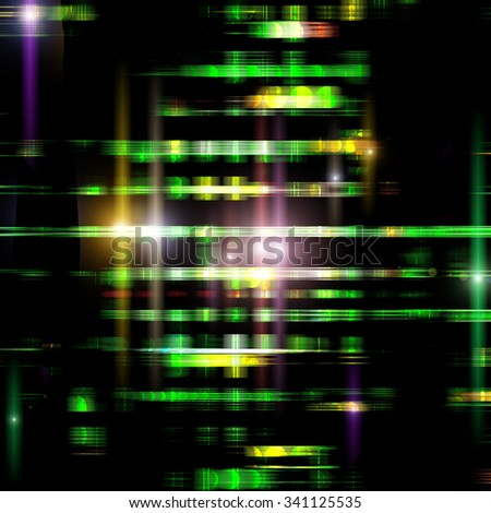 strips of shiny colored circles, abstract background - stock photo