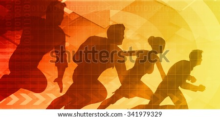 Strive or Striving for Progress as a Team - stock photo