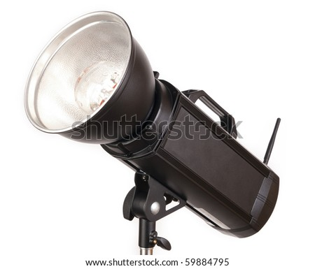 Strobe with white background - stock photo