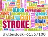 Stroke Medical Concept of Early Warning Signs - stock photo