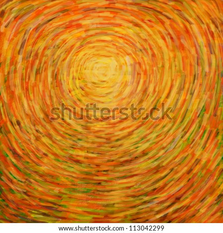 stroke painting sun for summer background. - stock photo
