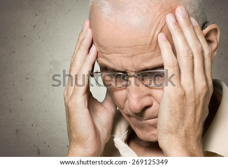 Stroke. Suffering - stock photo