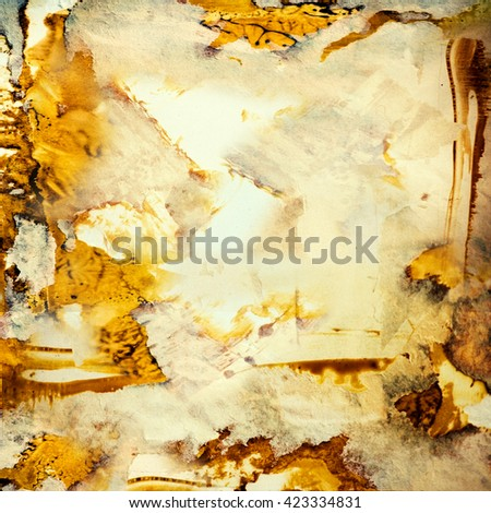 strokes, messy dirty background - stock photo