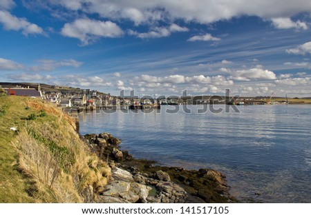 Stromness. Second largest town on Orkney, Scotland - stock photo