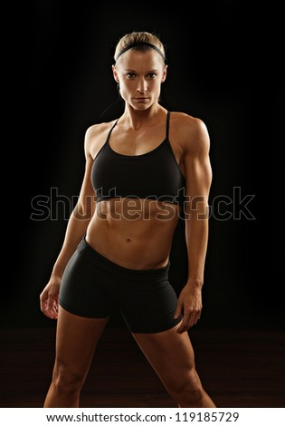 Strong and fit female - stock photo