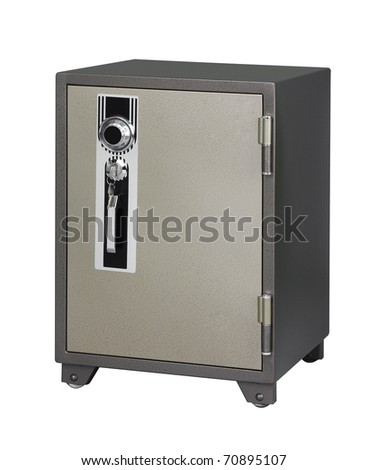 Strong and very security safe an image isolated on white background  - stock photo