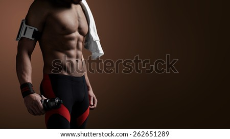 Strong athletic man - stock photo