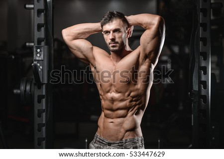 Six pack abs stock images royalty free images vectors strong athletic man fitness model torso showing six pack abs close up strong abs guy showing ccuart Gallery