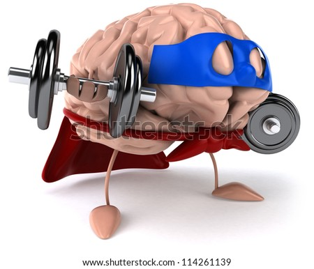 Strong brain - stock photo