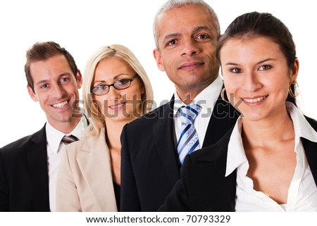 Strong Business Team - stock photo