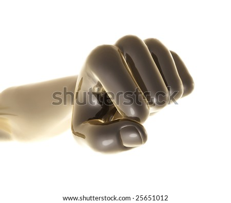 Strong metal fist  object - stock photo