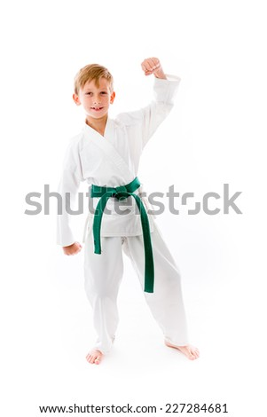 strong model isolated with arm curl - stock photo