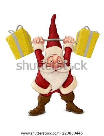 Strong Santa Claus  - stock photo