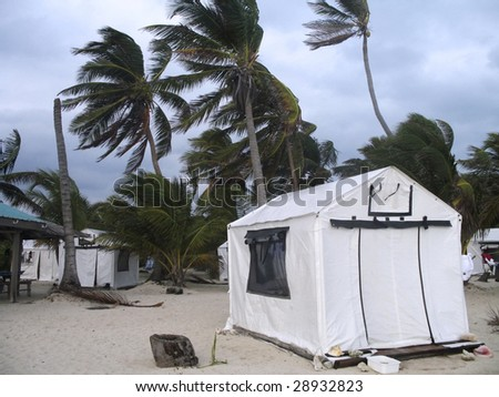 Strong winds in Belize - stock photo