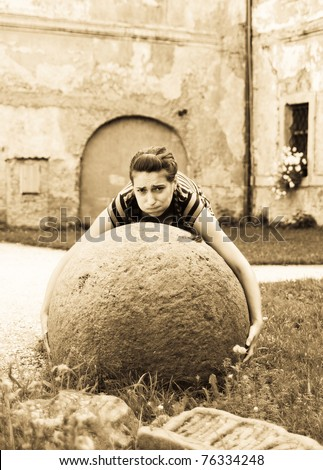 Strong-woman - stock photo
