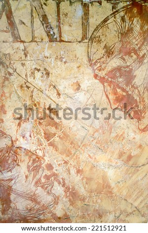 Structural plaster on the wall  - stock photo