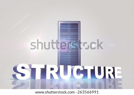 structure against server tower