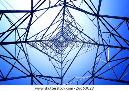 Structure geometric of framework electricity - stock photo