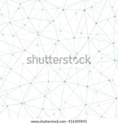 Structure molecule and communication Dna, atom, neurons. Science concept for your design. Connected lines with dots. Medical, technology, chemistry, science background.  illustration - stock photo