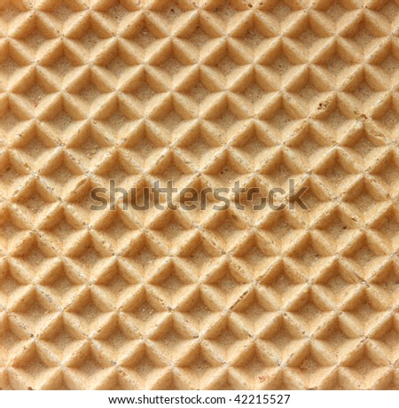 Structure of a baked golden wafer - stock photo