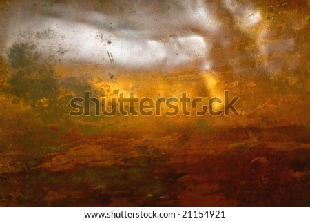 Structure of a copper sheet of Russian samovar - stock photo