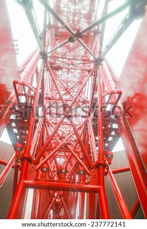 structure of a ferris wheel - stock photo