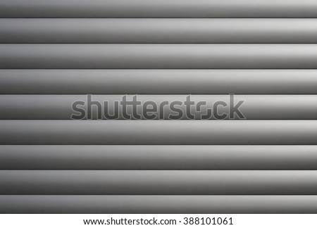 structure of a garage door made of aluminum - stock photo