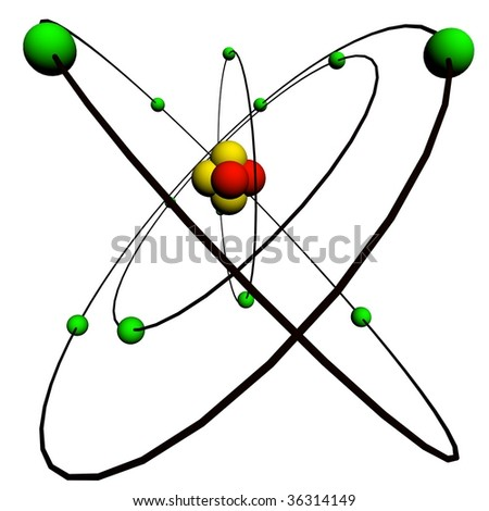 Structure of an atom - stock photo