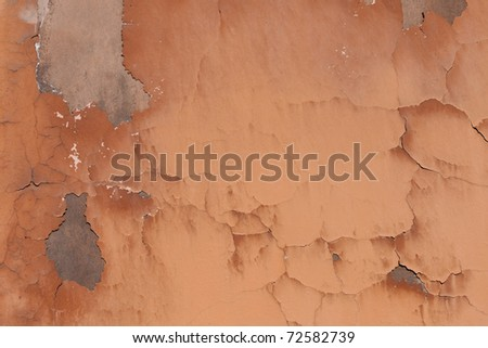 Structure of red old plaster - stock photo