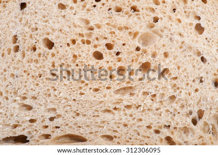 Structure of sourdough bread, sliced - stock photo