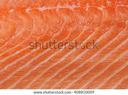 structure of the meat of salmon is filmed close up. fish background. top view
