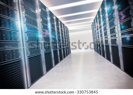 Structure of virtual room that collects data - stock photo
