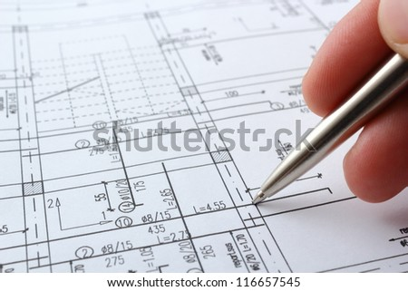 structure project for building a house - stock photo