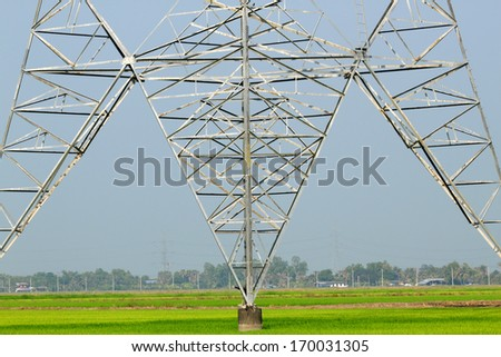 Structure pylon high voltage