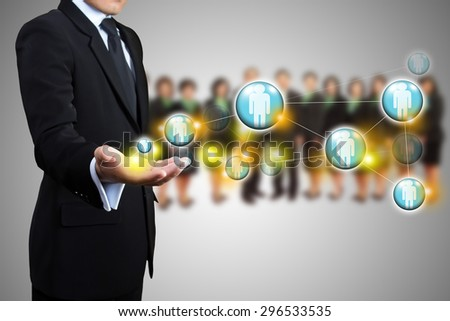 Structures connection of society, Social network - stock photo