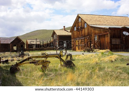 Structures in Bodie, California. - stock photo