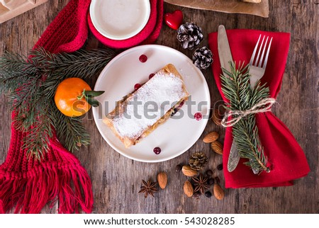 Flat Lay Berry Cookies Fresh Foxberries Stock Photo ...