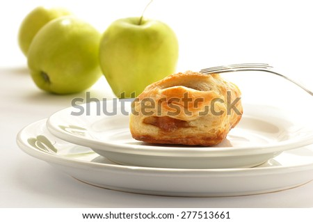 Strudel with apples - stock photo