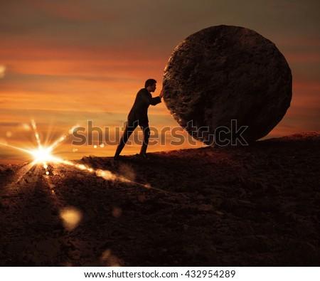Struggle and determination - stock photo