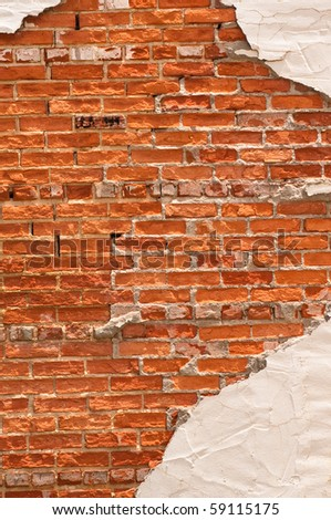 Stucco Brick Wall Design Stock Photo 59115175 Shutterstock