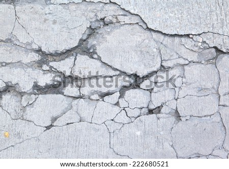 Stucco floor with cracks - stock photo
