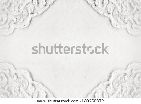 stucco on white wall  - stock photo