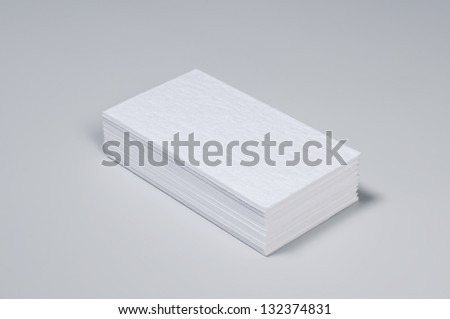 Stuck Blank Letterpress Business Cards - stock photo
