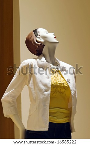 Stuck-up Mannequin - stock photo