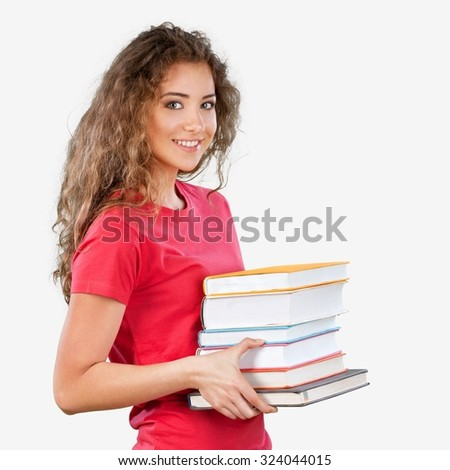 Student Books. - stock photo