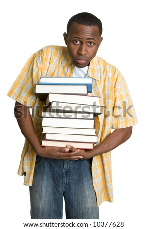 Student Carrying Books - stock photo